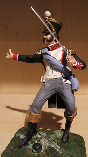 French Officer 105th regiment Waterloo 1815