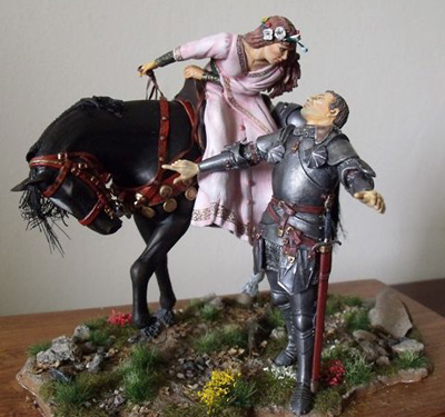 A Knight and his Lady circa 15th century