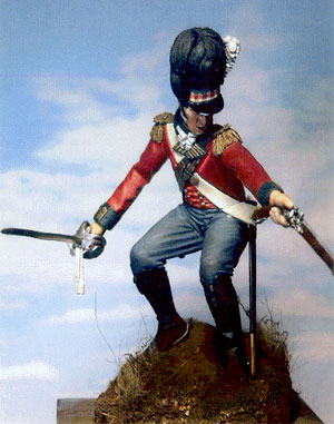 79th Foot Cameron Highlander Officer - Corunna 1802